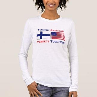 T-shirt À Manches Longues Américain finlandais - perfectionnez ensemble