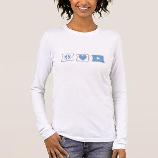 T-shirt À Manches Longues Amour de paix et femmes de carrés de la Somalie