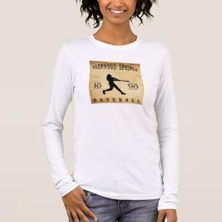 T-shirt À Manches Longues Base-ball 1898 de Glenwood Springs le Colorado