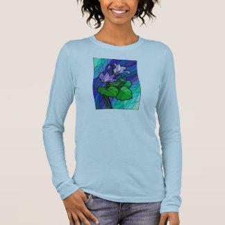 T-shirt À Manches Longues Beau dessus en verre souillé de bleus