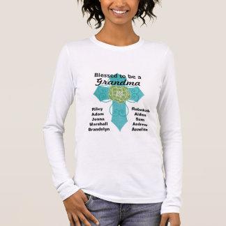 T-shirt À Manches Longues Béni pour être une chemise croisée turquoise de