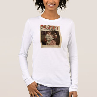 T-shirt À Manches Longues Billie Burke 1916 portraits vintages avec le chien