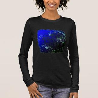 T-shirt À Manches Longues Bulles et fleurs d'étoiles de mer en néon tropical