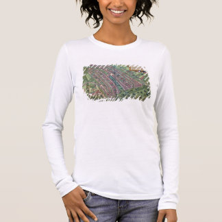 T-shirt À Manches Longues Carte d'Amsterdam, de 'Civitates Orbis Terrarum