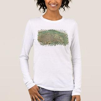 """T-shirt À Manches Longues Carte de Catane, de """"Civitates Orbis Terrarum"""" par"""