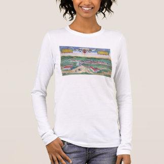 """T-shirt À Manches Longues Carte de Cordoue, de """"Civitates Orbis Terrarum"""""""