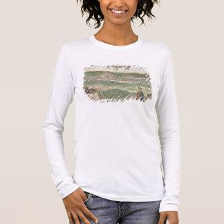 """T-shirt À Manches Longues Carte de Cracovie, de """"Civitates Orbis Terrarum"""""""