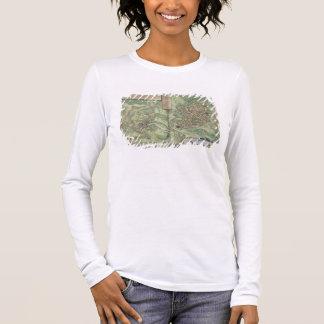 T-shirt À Manches Longues Carte de Jérusalem, de 'Civitates Orbis Terrarum