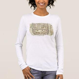 T-shirt À Manches Longues Carte de Jérusalem et des abords, de 'C