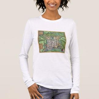 T-shirt À Manches Longues Carte de La Rochelle, de 'Civitates Orbis Terrarum