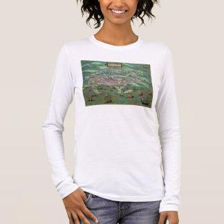 T-shirt À Manches Longues Carte de l'Alexandrie, de 'Civitates Orbis