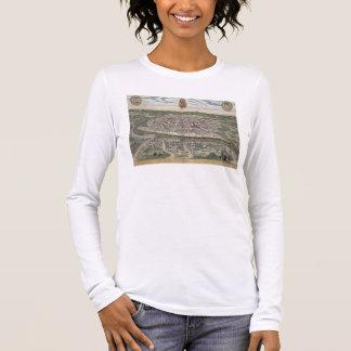 """T-shirt À Manches Longues Carte de Séville, de """"Civitates Orbis Terrarum"""""""