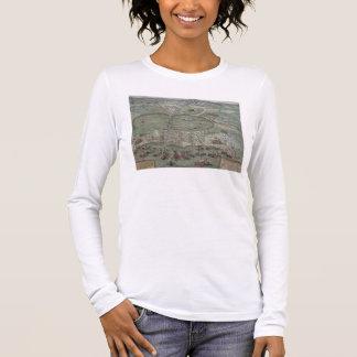 """T-shirt À Manches Longues Carte de Tunis, de """"Civitates Orbis Terrarum"""" par"""