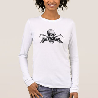 T-shirt À Manches Longues Chaudronnier des syndicats : Crâne de soudure