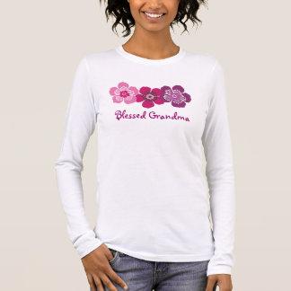 T-shirt À Manches Longues Chemise bénie de grand-maman - pourpre rose