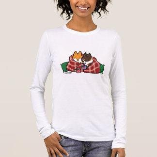 T-shirt À Manches Longues Chemise de câlin de Noël de corgi