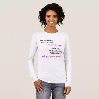 T-shirt À Manches Longues Chemise drôle de forme physique
