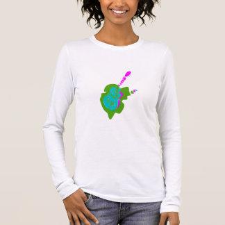 T-shirt À Manches Longues Coeur d'un musicien