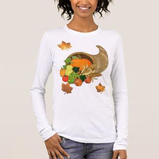 T-shirt À Manches Longues Corne d'abondance élégante TOUTE de médias