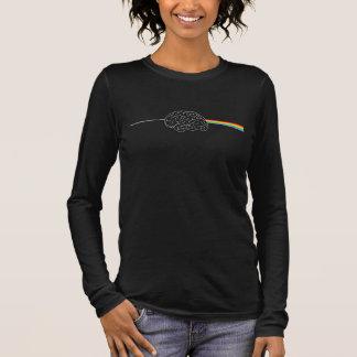 T-shirt À Manches Longues Côté en noir de la lune