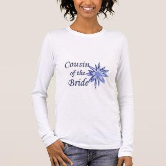 T-shirt À Manches Longues Cousin du bleu de jeune mariée