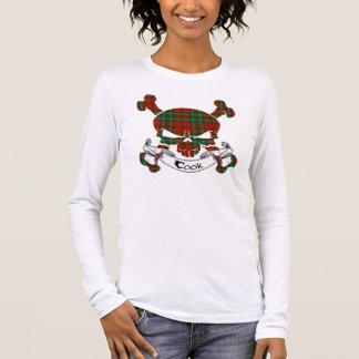 T-shirt À Manches Longues Crâne de tartan de cuisinier