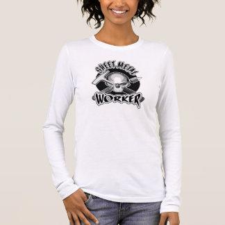 T-shirt À Manches Longues Crâne de travailleur de tôle