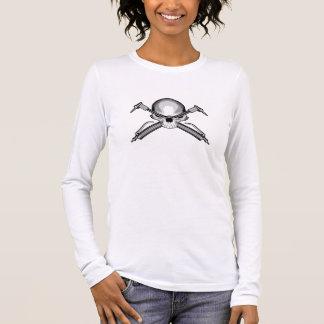 T-shirt À Manches Longues Crâne et torches de coupe croisées