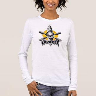 T-shirt À Manches Longues Crâne Kayaking