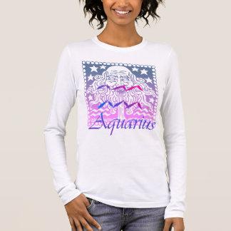 T-shirt À Manches Longues Dessus de Verseau de zodiaque