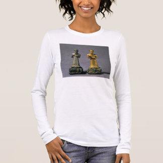 T-shirt À Manches Longues Deux statuettes des hommes portant des offres des