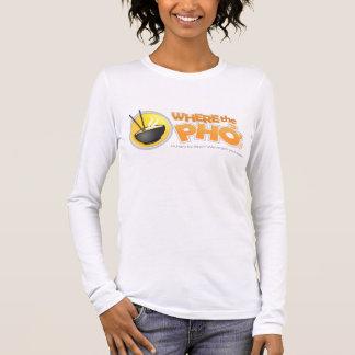 T-shirt À Manches Longues Douille de dames de WhereThePho longue