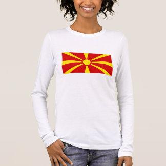 T-shirt À Manches Longues Drapeau de Macédoine