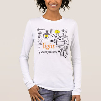 T-shirt À Manches Longues du soleil de lumière chemise lumineuse partout