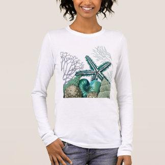 T-shirt À Manches Longues Étoiles de mer sous la mer