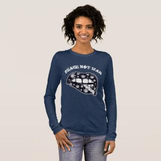 T-shirt À Manches Longues Fumée de guerre de paix pas