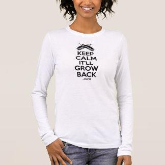T-shirt À Manches Longues Gardez le calme : Humour de salon de coiffure