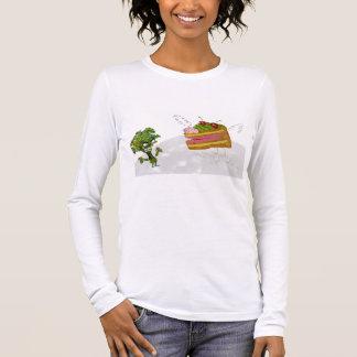 T-shirt À Manches Longues gâteau et brocoli