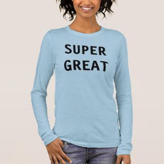 T-shirt À Manches Longues Grand superbe