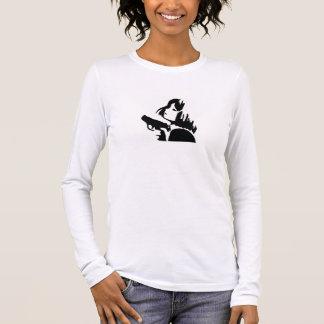 T-shirt À Manches Longues gun girl