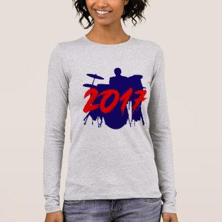 T-shirt À Manches Longues Homme de musicien de joueur de batteur nouveau