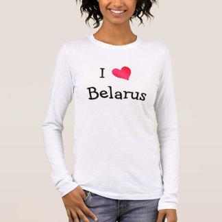 T-shirt À Manches Longues J'aime le Belarus