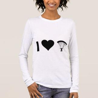 T-shirt À Manches Longues J'aime parachuter