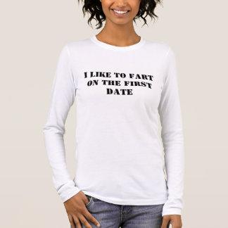T-shirt À Manches Longues J'aime péter…