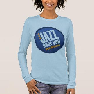 T-shirt À Manches Longues Jazz près de vous douille de dames de la