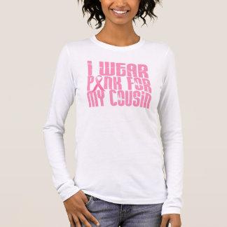 T-shirt À Manches Longues Je porte le rose pour mon cousin 16 (le cancer du