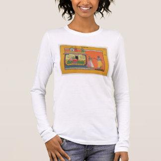 T-shirt À Manches Longues Krishna arrivant à la maison de Radha,
