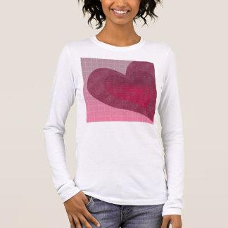 T-shirt À Manches Longues La chemise des femmes peintes de coeurs