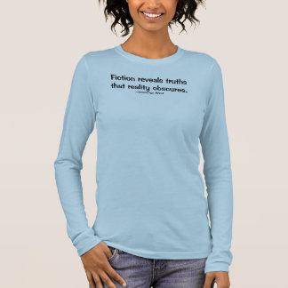 T-shirt À Manches Longues La fiction indique des vérités