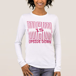 T-shirt À Manches Longues La maman est partie supérieure de wow - vers le
